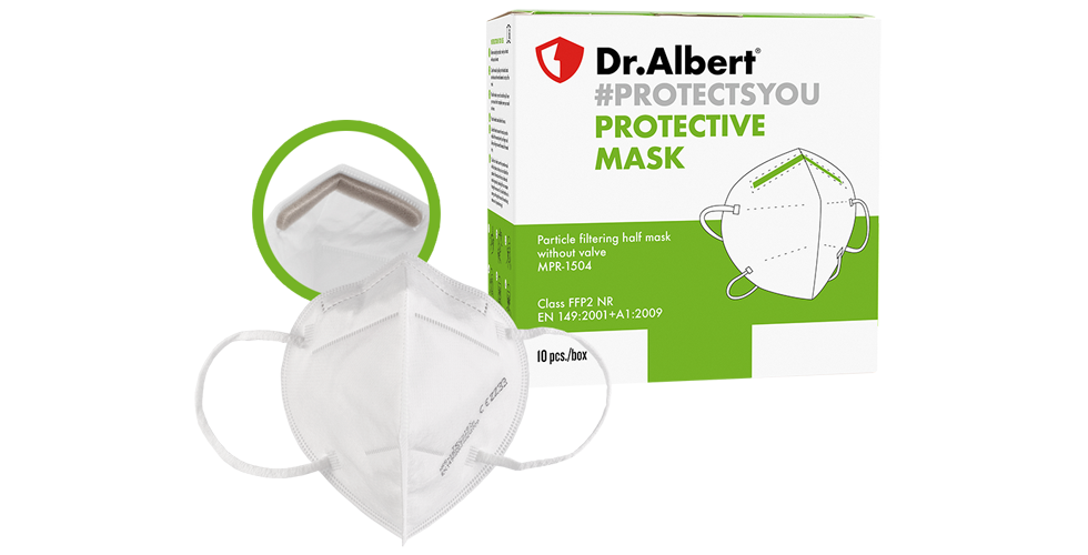 Disposable respiratory protective masks single use MPR-1504